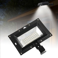 T SUN Solar Gutter Lights 30 LED PIR Motion Sensor Solar Lights Waterproof Powered Security Lamp