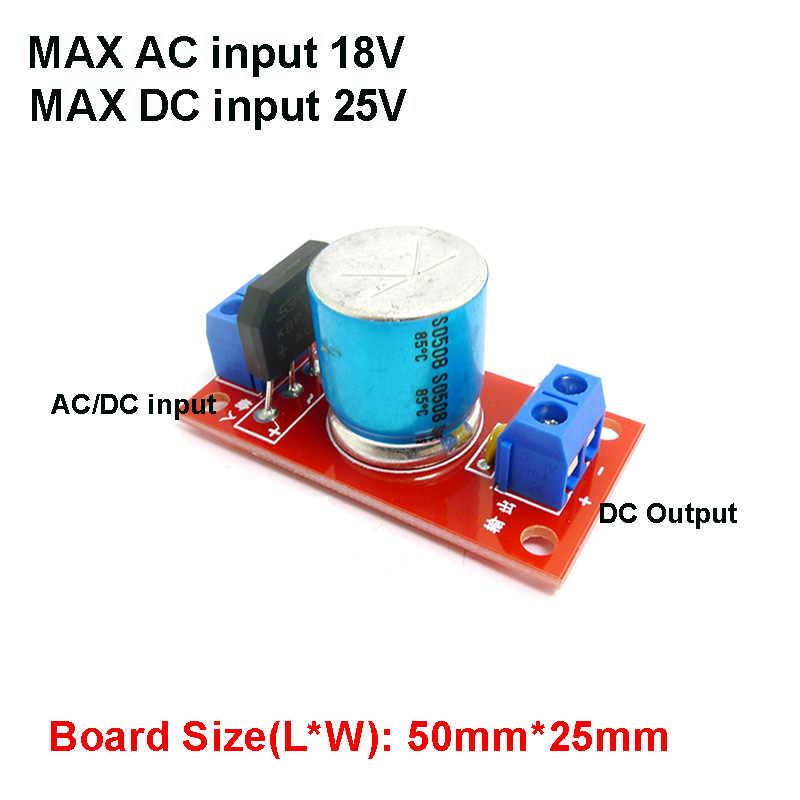 2 قطعة AC-DC 3A 18V تحويل التيار الكهربائي تحويل وحدة DC-DC 25V/3300 فائق التوهج المعدل تصفية عارية لوحة دوائر كهربائية