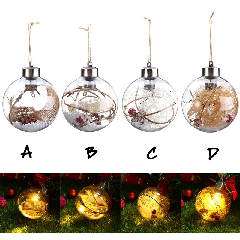 LED Holiday Light Transparent Cute LED String Light Christmas Wedding Decoration Ball With Lamp Hanging Ornaments Light