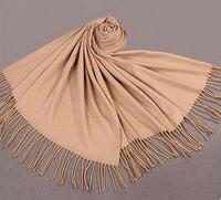 Мода верблюда зимой женщин искусственный кашемировые шали шарф толстый теплый переносить длинные глушитель кисточки Mujer Bufanda чал WS-204
