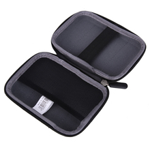 Portable Lightweight Sailcloth PU External Hard Drive Case Bags  for 2.5 inch External HDD Hard Drive Storage Black