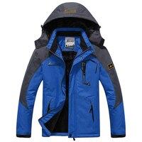 New Winter Jacket Men Thick Velvet Down Coat Thermal Warm Windproof Hood Jackets Mens Outwear Parka