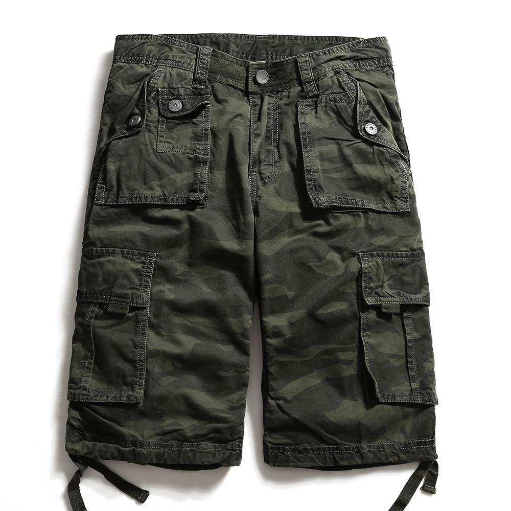 2020 Summer Military Camo Cargo Shorts  Fashion Camouflage Multi-Pocket Army Casual Shorts Homme Bermudas Masculina