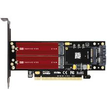 цена на JEYI SK16-PRO NVME NGFF Adapter x16 PCI-E3 Full Speed M.2 2280 Aluminum Sheet Thermal Conductivity Silicon Wafer Fan Cooling SSD