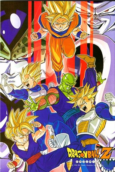 Personnalisé Toile Art Dragon Ball Z Affiche Dragon Ball Stickers