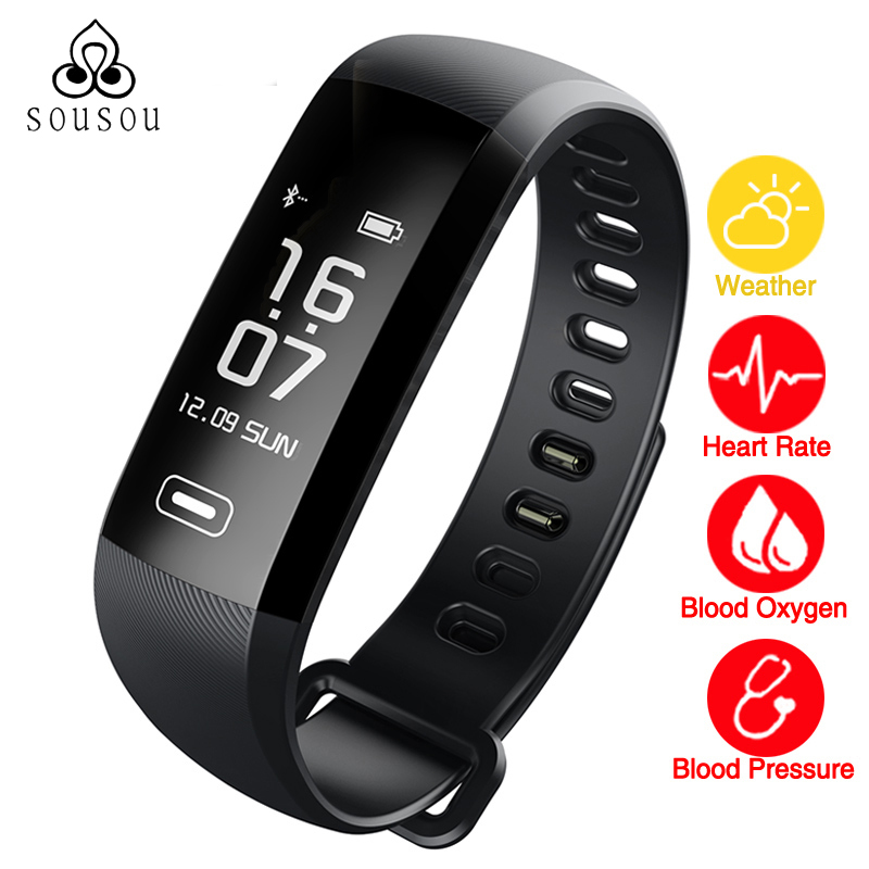 Smart Bracelet Band Heartrate Blood Pressure Oxygen Oximeter Sport Bracelet Clock Watch intelligent For iOS Android R6PRO