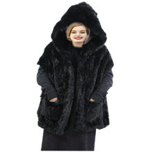 Real Fox Fur Wraps Scarves Women Winter Scarf Cashmere Throw Poncho Warm Fashion Cape with pocket Detachable Hooded H315-01(China)