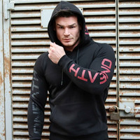 Newest Brand Men Cotton Hooded Sweatshirt Autumn Winter Gyms Fitness Workout Hoodies Casual Fashion Sportswear Pullover