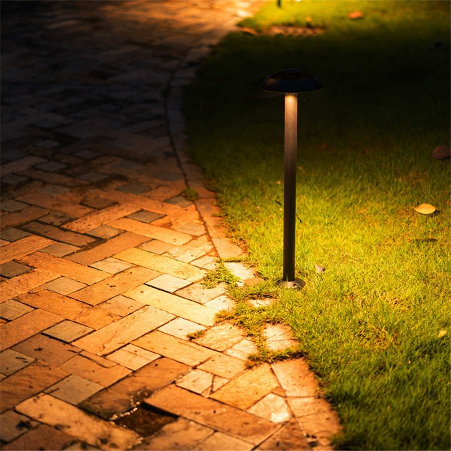 Thrisdar moderno Simple Park Villa césped lámparas de aluminio seta césped luz paisaje camino Patio Bollard Luz - 4