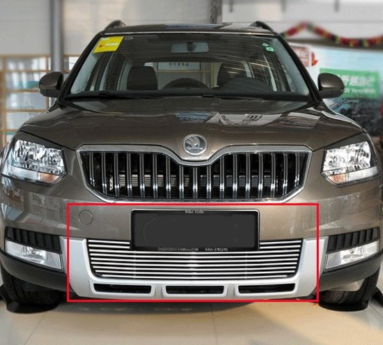 High quality stainless steel Front Grille Around Trim Racing Grills Trim For 2013 Skoda Yeti abs chrome front grille around trim racing grills trim for 2013 hyundai santa fe ix45