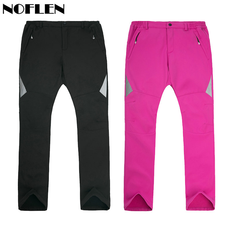 Noflen Winter Men Hiking Pants Outdoor Trekking Softshell Women Trousers Waterproof Windproof Thermal Camping Skiing Climbing эра spl 6 40 6k s эра светод панель ip40 295x1195x8 40вт 2800лм 6500k ra