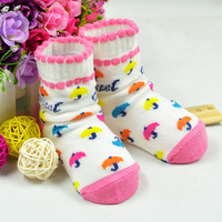 6 גרבי כותנה תינוק 0-3 שנים זוגות\חבילה הלמידה Walk בן יום חורף חם עבה גרב לתינוק להחליק אנטי ללבוש של פעוט גרבי