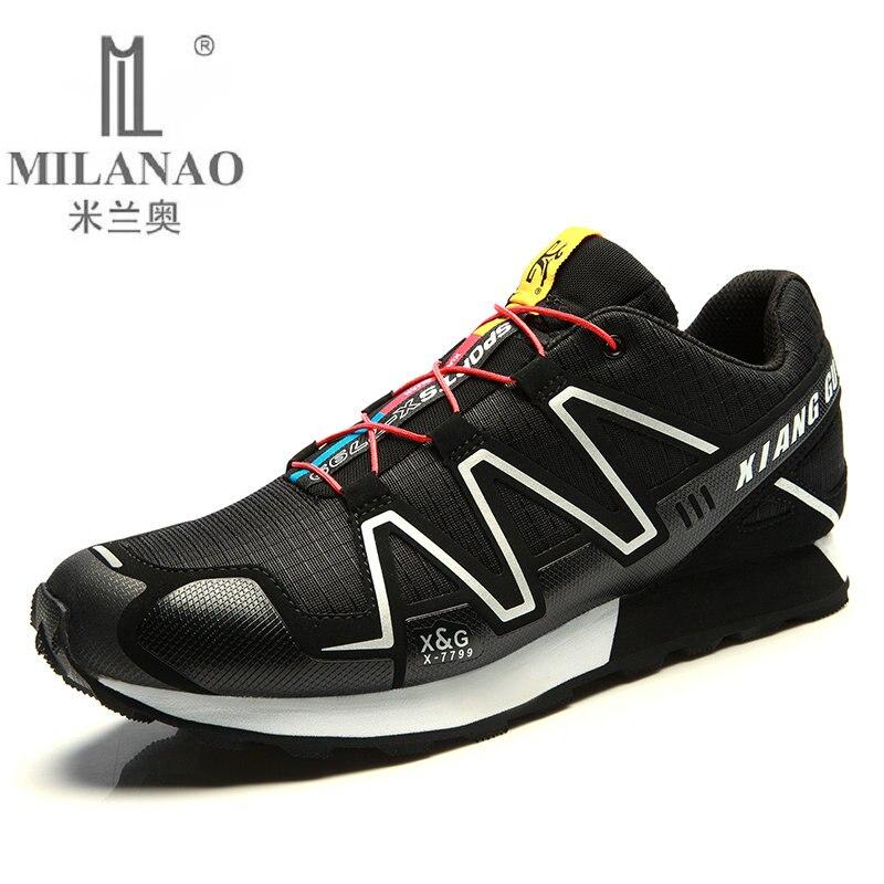 2016 MILANAO Running Shoes Man Outdoor font b Sneakers b font Sports Shoes Flat Trail Run