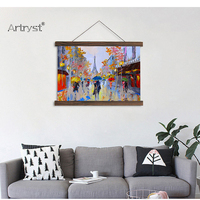 Scroll painting modern wall art famous paintings eiffel tower painting of eiffel tower HD printed pictures for living room decor