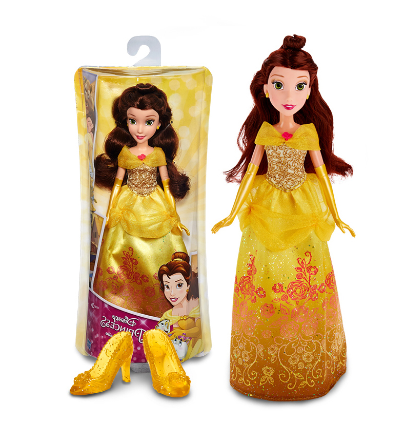 Genuine 30cm Princess Belle Doll Action Figure Classic Anime girl Toy Christmas Gift