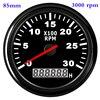 Waterproof Car Boat Tachometer Gauge RPM Tachometer With Hour Meter 6000  4000  8000 RPM Gauge for Audi Peugeot BMW Ford Focus promo