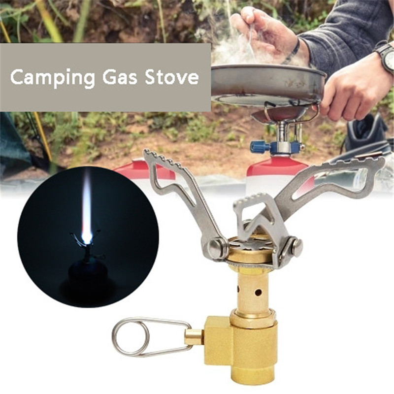 Mini Camping Titanium Stove Portable Outdoor  party Gas Stove Survival Furnace
