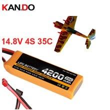 4s 35c 14.8v 4200mah airplane model battery 35C aeromodeling battery model aircraft Li-Polymer battery XT60 airplane battery