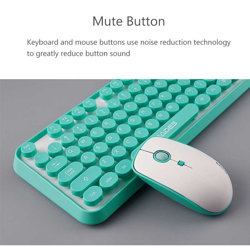 2 4G Wireless Gaming Mouse Keyboard Combo Round Button Ergonomics Keyboard  Optical Mouse For Macbook Lenovo Dell Asus HP Laptop