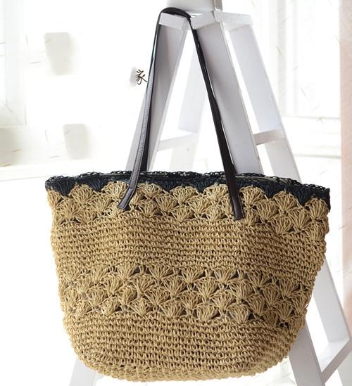 624412e8ec4 Bolsa de paja 2015 nueva manera caliente del verano bolsas de Playa Las  Mujeres materiales ligeras tejidas bolsa A1134