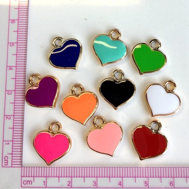 Ccor 10pcs colorful oil drip full heart plastic pendant fit necklace ccor 10pcs colorful oil drip full heart plastic pendant fit necklace phone strips wristband belt tags mozeypictures Choice Image