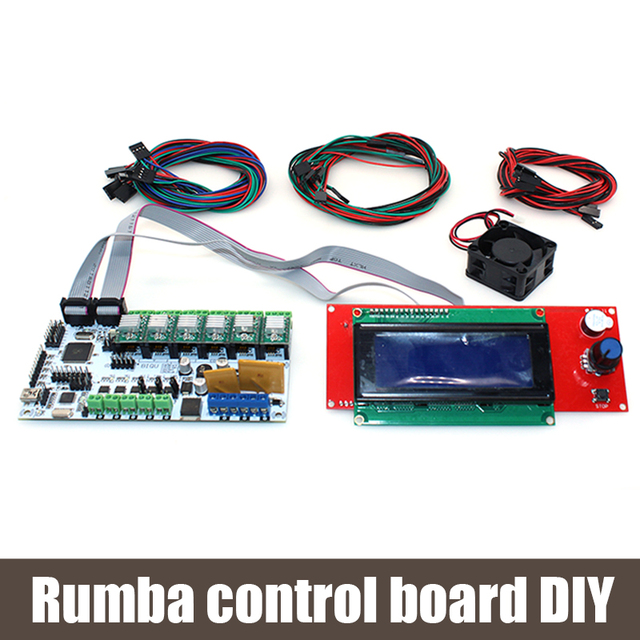 BIQU Rumba control board DIY+cooler fan +LCD 2004 controller display +jumper wire Rumba control board kits for reprap 3D printer