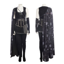 Cafiona mágico Érase una vez Regina molinos Cosplay Sexy negro mujeres traje  con capa larga f6305aa8311