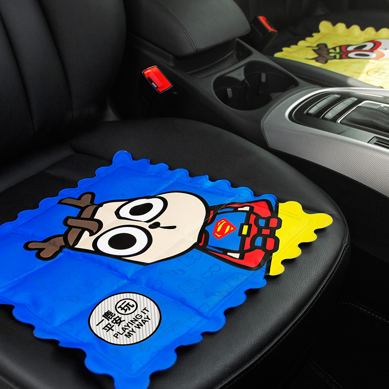 Car Seat Covers Cartoon Auto Seat Supports Summer Ice Pad Cool Cooling Ice Crystal Cushion in Summer Auto Accessories