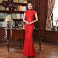 Women Slim Wedding Dress Retro Female Bride Dress Lace Chinese Tradional Dress Fishtail Long Cheongsam Evening Party Dress 18