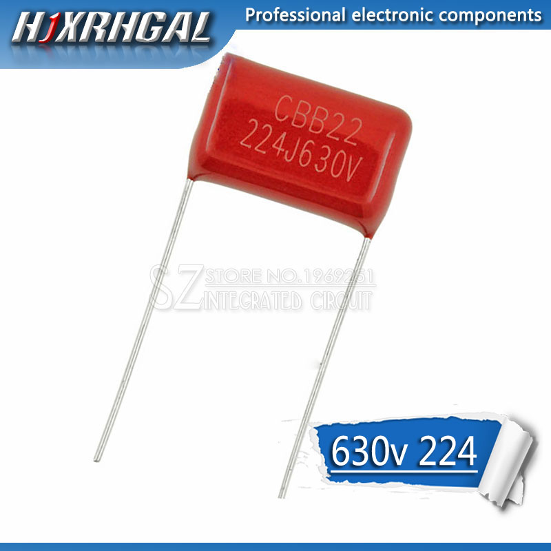 10PCS 630V224J 0.22UF Pitch 15mm 224 630V 220nf CBB Polypropylene Film Capacitor Hjxrhgal
