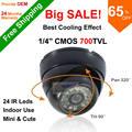 Frete Grátis Big SALE! Chegada nova Plástico ABS com 700tvl CMOS 24IR visão noturna IR Color Indoor Segurança Dome CCTV Câmera