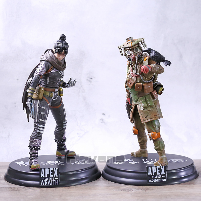 Hot Game <font><b>Apex</b></font> Hero Bloodhound / Wraith PVC Figure <font><b>Toy</b></font> Collection Model Statue image