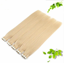 Skin Weft Hair Extensions Bleach Blonde Color #613 Straight Remy Brazilian Human Hair Tape In Hair 20pcs/set 50G 40pcs/set  100G