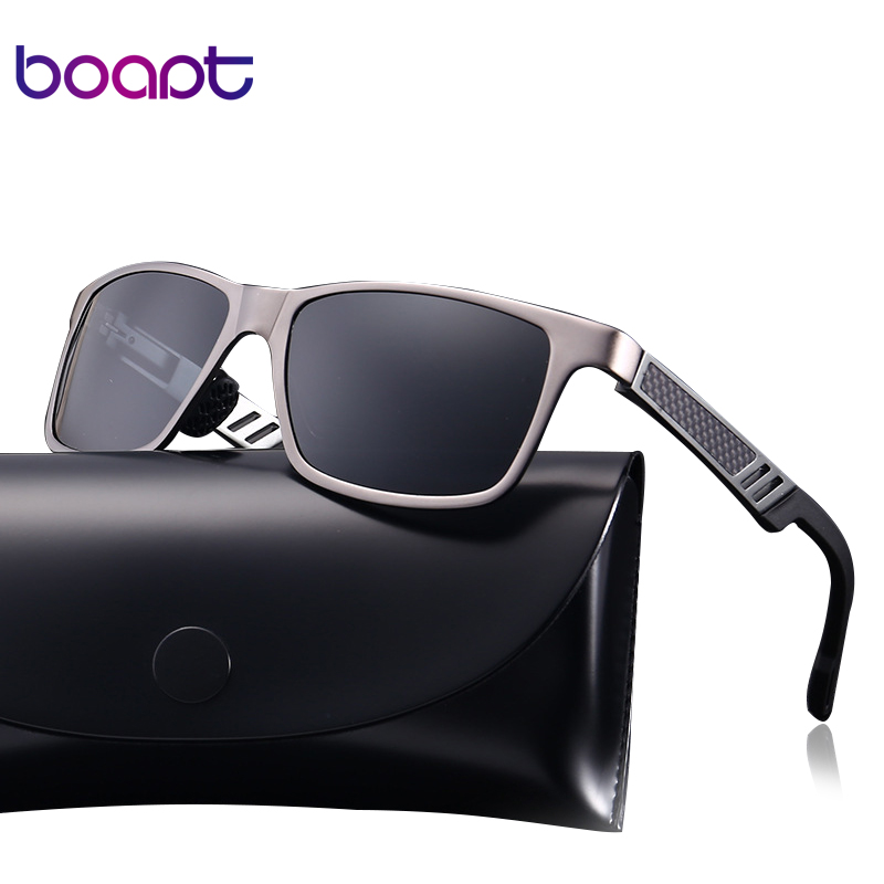 [boapt] Aluminum Polarized Male Sunglasses Mirror Vintage Sun Glasses Square Female Gafa ...