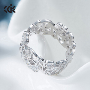 Image 4 - CDE 925 Sterling Silver 5mm Wide Ring Secret Garden Geometric Ring with Cubic Zirconia for Women Wedding Engagement Jewelry