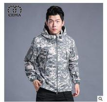 Free shipping,2016 New shark skin jacket camouflage fleece thick tactics of men's outwear Hoody winter warm Jacket