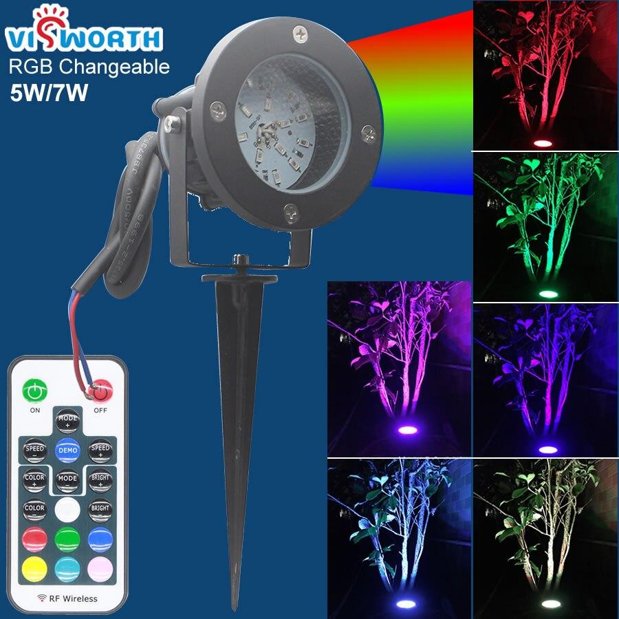 Işıklar ve Aydınlatma'ten LED Çim Lambaları'de Led Çim Lambaları RGB IP65 Su Geçirmez SMD5730 5 W 7 W LED Bahçe Işıkları Alüminyum DC 12 V Açık Peyzaj jardim Aydınlatma Focos title=
