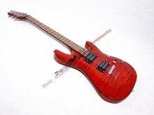 China OEM ROTE gitarre Wasser welligkeit gitarre, E-gitarre, Schecter, Logo kann angepasst werden. Farbe kann geändert werden.