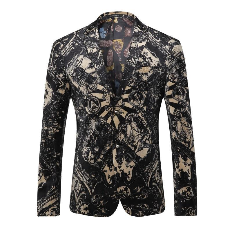 High grade Fabrics Blazer Men Floral Casual Slim Blazers 2016 New Arrival Fashion Party Single Breasted Men Suit Jacket