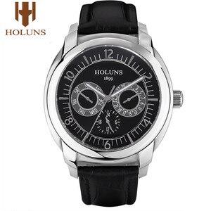 Image 5 - HOLUNS/Роскошные мужские часы, кварцевые наручные часы, мужские спортивные деловые армейские часы из нержавеющей стали, водонепроницаемые