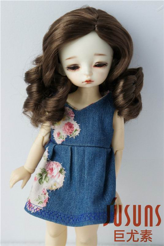 JD343 1/6 YOSD 16-18 cm Synthetic mohair doll wig 6-7inch inch Long curly BJD hair easy to restyle