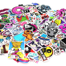 100 Pcs Waterproof Mixed DIY Motorcycle moto Bike Car Stickers Decal laptop luggage Skateboard Sticker car Styling Decal Sticker