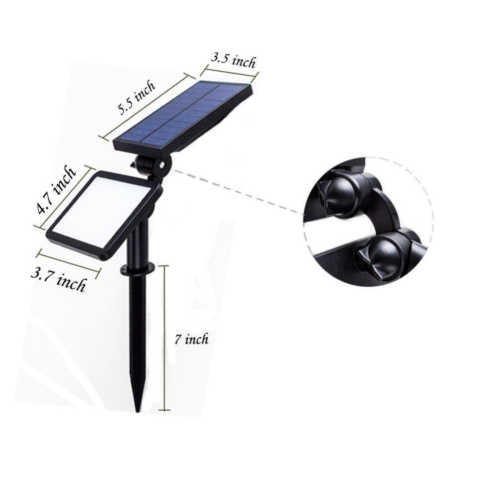 50 leds ajustável luz da lâmpada solar