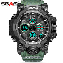 SBAO  New Electronic Wristwatch LED Digital Wrist Watches For Men Clock Male Hour HodinkyTop Brand Luxury Famous Sport Watch Men