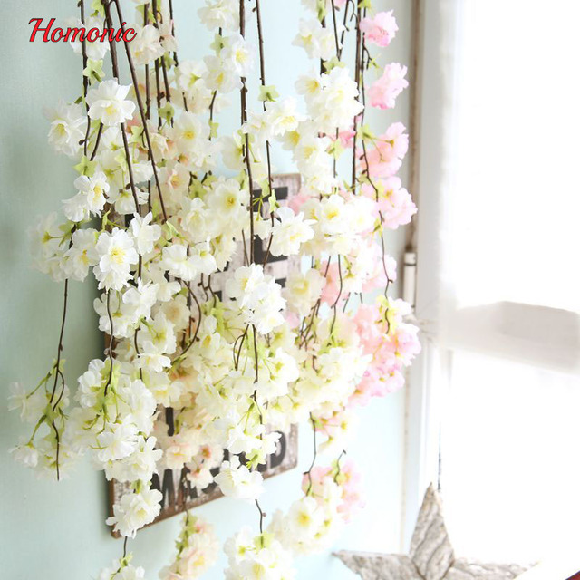 1PC Artificial Fake Flowers Leaf Cherry Blossoms Floral Wedding ...