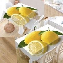 Waterproof Tablecloth Hotel-Decoration Printing Wedding Kitchen Lemon More-Size