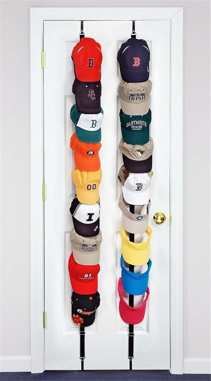 Adjustasble Cap Rack Baseball Cap Hat Holder Rack Organizer Storage Door Closet Hanger + Hook 3 Colors