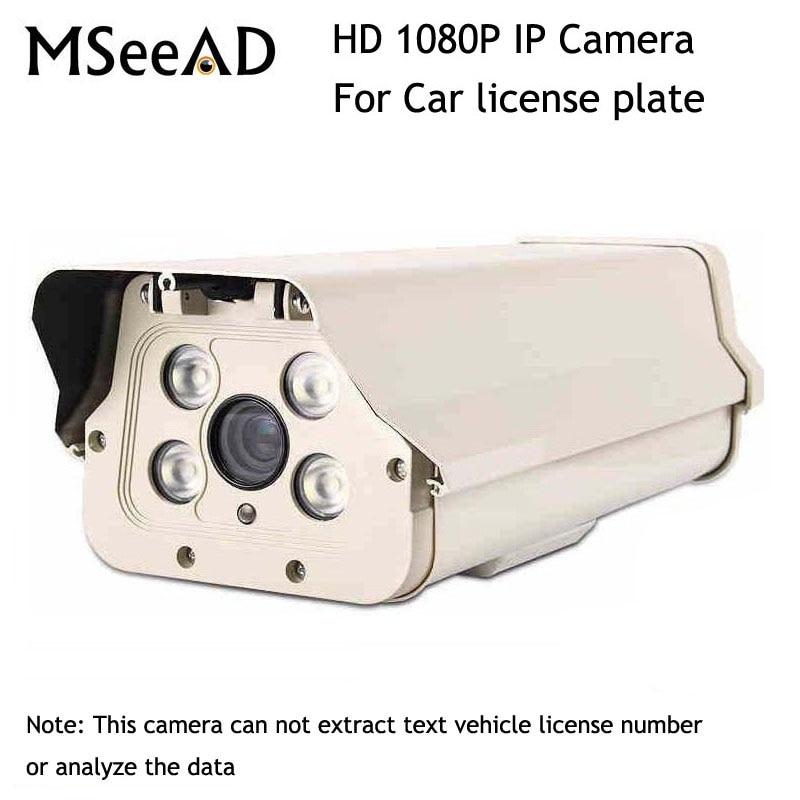 Caméra de plaque d'immatriculation de voiture extérieure HD 1080 P 2MP caméra IP de balle Zoom 6-22mm lumière blanche LED WDR caméra de vidéosurveillance varifocale manuelle