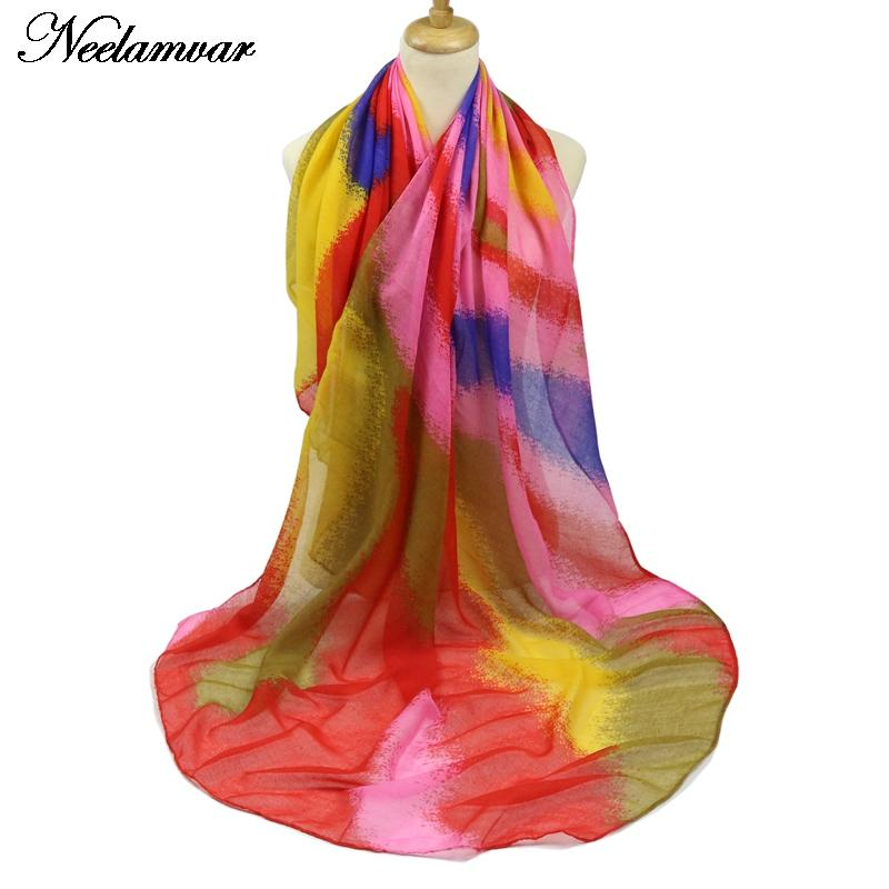 Apparel Accessories 1pc Hot Sale Winter Scarves Woman 2018 Red And Green Patchwork Long Scarf Silk Square Feel Satin Skinny Warm Scarf Free Shipping Durable Service