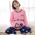 spring lactation clothes go out fashion woman pajamas Autumn Maternal pyjamas Suit  Cotton Clothing Lady  Plus Size Nightgown